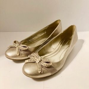 Ettiene Aigner Gold Shoes